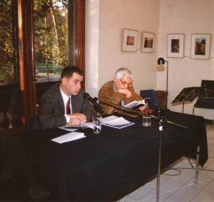 Con Miguel Arteche, Lanzamiento de ESCENAS DEL DERRUMBE DE OCCIDENTE