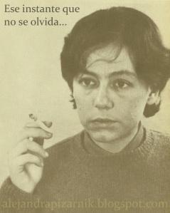 ese instante pizarnik cigarro fumando