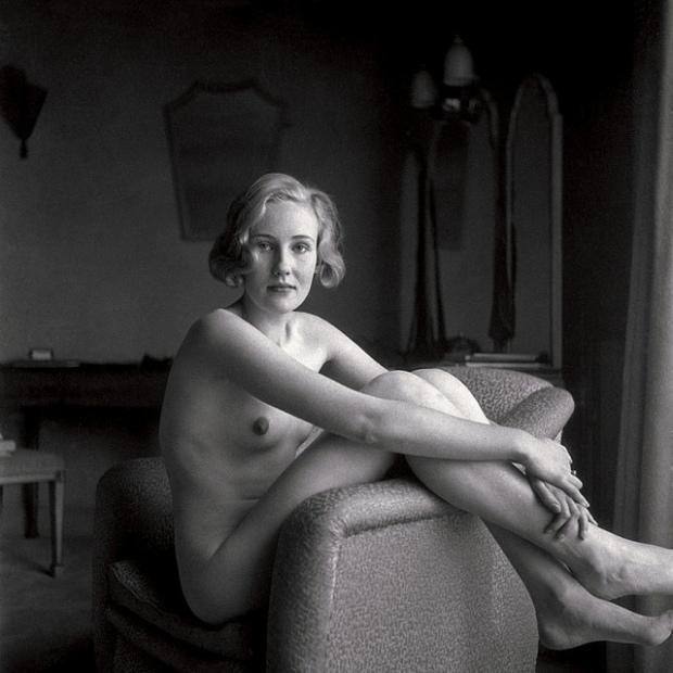 T.W. Salomon, Female Nude in Armchair, 1935